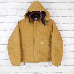 Carhartt Mens XL Jacket With Detachable Hood EUC